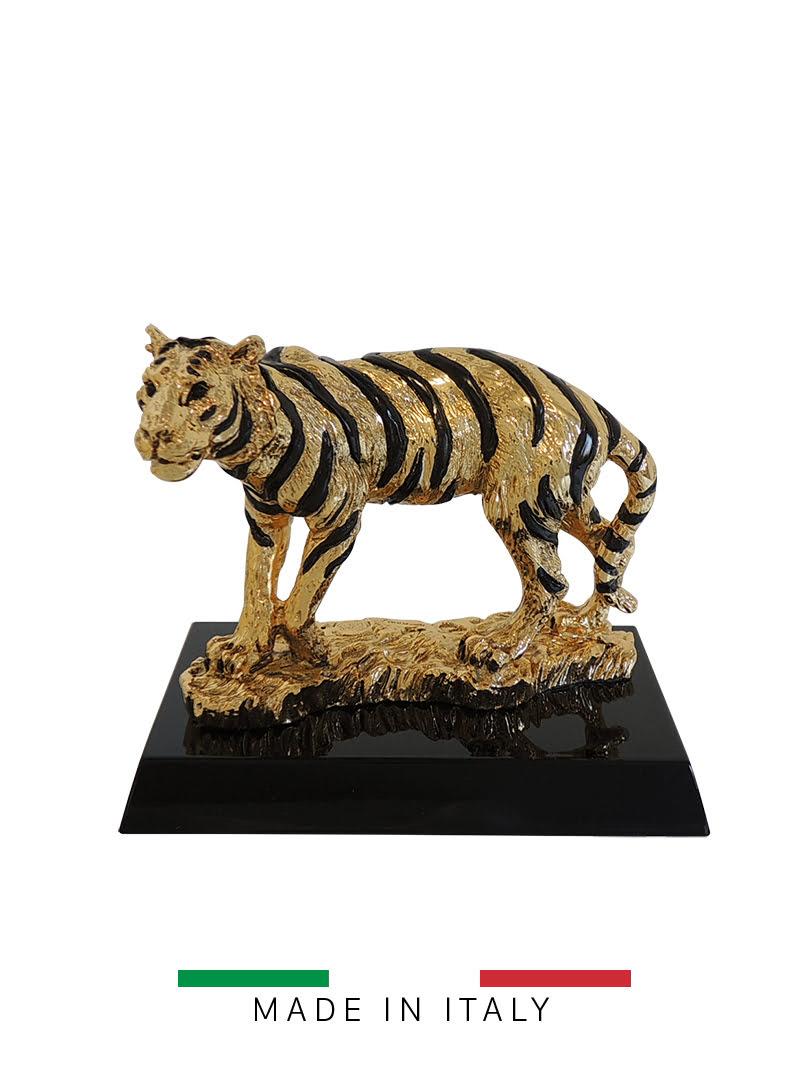 Quà tặng hoàng gia - Con hổ mạ vàng 14K Goldline Italia - D4626G.BL