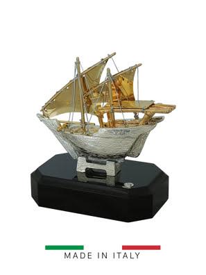Quà tặng hoàng gia - Thuyền mạ vàng 14k Goldline Italia - D2580