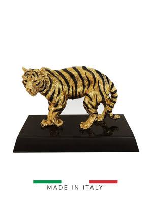 Picture of Vật trang trí hình con hổ vàng Goldline Italia - D4625G/BL