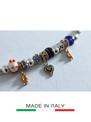 Vòng đeo tay Debora mạ bạc đính hạt DC4315