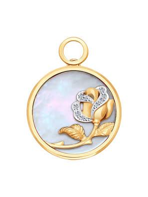 Picture of Măt dây chuyền vàng 585, có đính ngọc trai, kim cương kp-17 - 1030631No18103