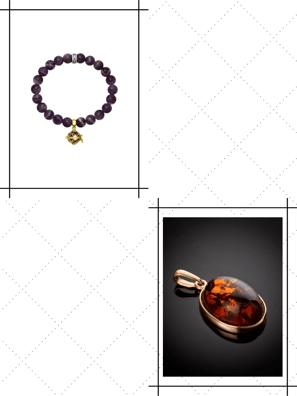 Combo Vòng Đeo Tay Bạc & Mặt Dây Chuyền Amber Jewelry