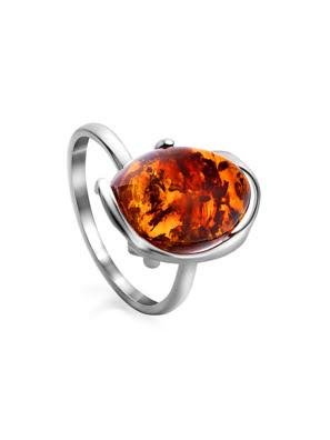 Nhẫn bạc i màu hổ phách sắc thái cognac phong phú của