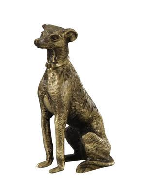 Picture of Tượng chú chó FIGURE GREYHOUND PLAIN bằng đồng Virtus - 2123