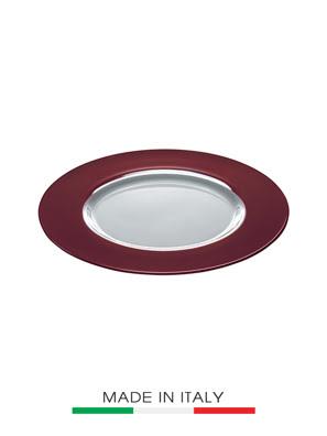 Dĩa Thủy Tinh Vidivi Rialto Burgundy Màu Đỏ Tía 35cm - 60519