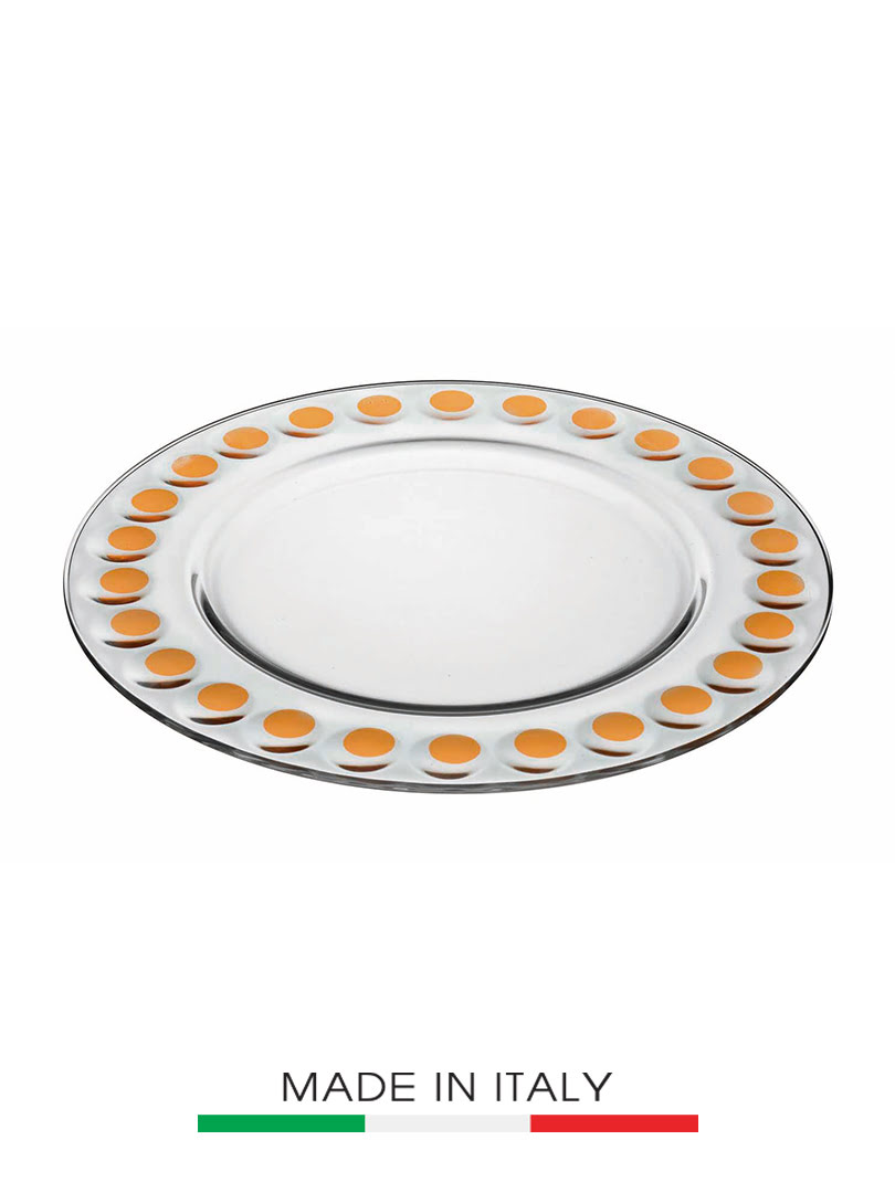 Dĩa thủy tinh Vidivi Candy màu cam 32cm - 63363E