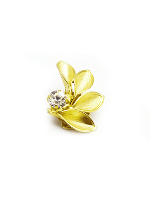 Hoa Tai Mạ Vàng Mặt Gắn Đá Thiên Nhiên FOBE HY LẠP - FOBE-006