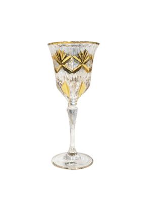 Bộ 6 ly rượu pha lê mạ vàng 24K Same Decorazione Italy Goblet - 3581/746