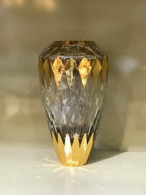 Bình hoa pha lê mạ vàng Same Decorazione Italy - 3604