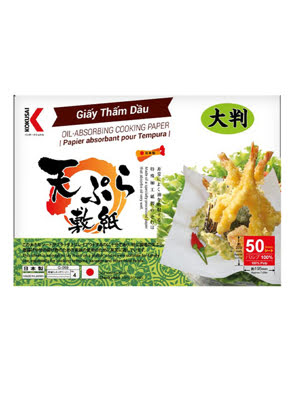 Picture of Giấy thấm dầu tempura KOKUSAI 19.5x22cm (50 sheet/túi) - GTDD00004770