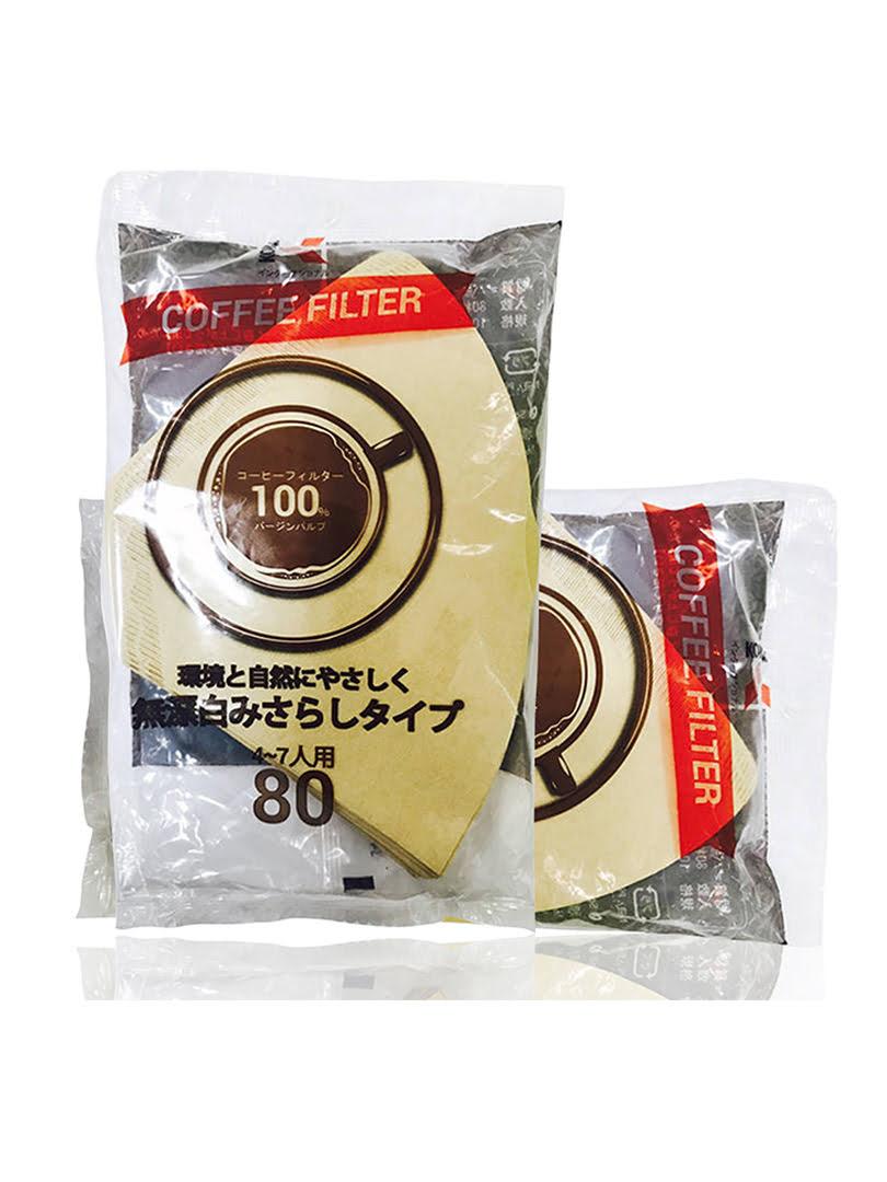 Giấy thấm lọc Coffee Filter 185mmx114mm (80 tờ/Túi)-màu cà phê - GTL000900112