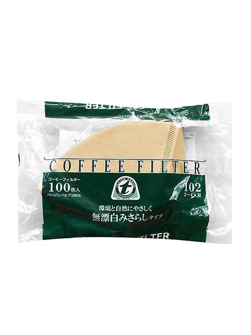 Giấy thấm lọc Coffee Filter 230mmx50mmx110mm (100 tờ/ bịch)-màu cà phê