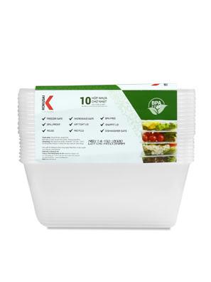 Hộp nhựa đựng thực phẩm Kokusai 1000ml Lốc 10 cái - HDK009782