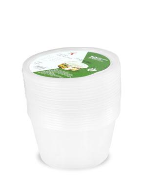 Hộp nhựa đựng thực phẩm Kokusai 16OZ Lốc 10 cái - HDK009799