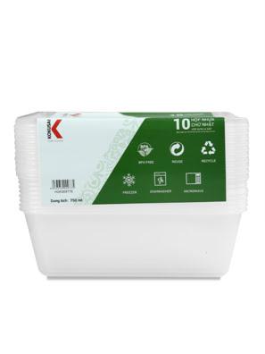 Hộp nhựa đựng thực phẩm Kokusai 750ml Lốc 10 cái - HDK009775