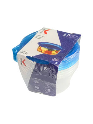 Hộp nhựa Kokusai Biopac 1 cup 236ml Lốc 5 cái - SC-001CLB-5