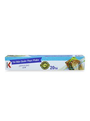 Túi Zipper đựng thực phẩm đa dụng trong suốt KOKUSAI size L30 (26.5cmx31cm) (20 túi/hộp) - TZIP59004619 - Moriitalia