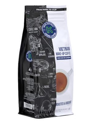 Picture of Cà Phê Rang Xay Nguyên Chất 100% K-COFFEE  VietNam WAKE UP 454G - RXKVW000454