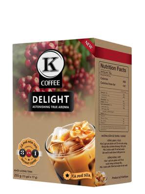 Picture of Cà Phê Hòa Tan K-COFFEE DELIGHT 3 in 1 255G - HTKD000225