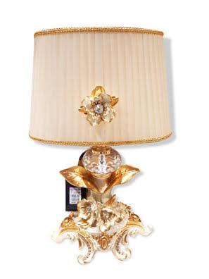 Picture of Đèn bàn mạ vàng 24k gắn hoa lan và kim cương Swarovski Cevik 3NQ.L/100/AC