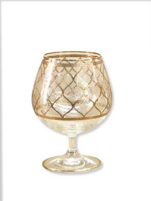 Bộ 6 ly rượu Combi phủ vàng 24K COGNAC GOLD 400ML - G465/Z-60