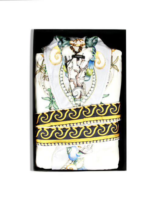 Áo choàng tắm Versace màu xám Size L - ZSEP0121.Z7014.L