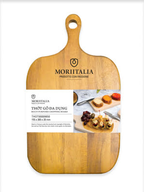 Picture of [MỚI] Thớt gỗ đa dụng Moriitalia 155x265x20mm - THOT00009850