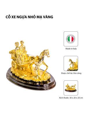 Cỗ xe ngựa nhỏ mạ vàng Arte Ca.Sa. ART- O49