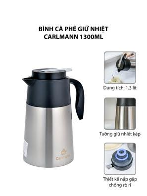 Bình cà phê giữ nhiệt Carlmann 1300ml - BES-178