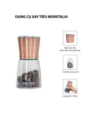 Dụng cụ xay tiêu Moriitalia phong cách retro màu đồng - 000860