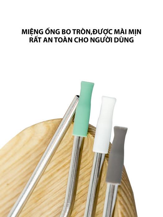 Vỉ 4 Ống Hút Inox Có Cọ Vệ Sinh La Fonte - 006699
