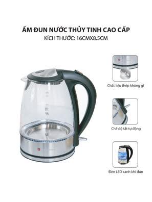 Ấm đun nước thủy tinh Kuchenzimmer 1.7 lít - 3000273
