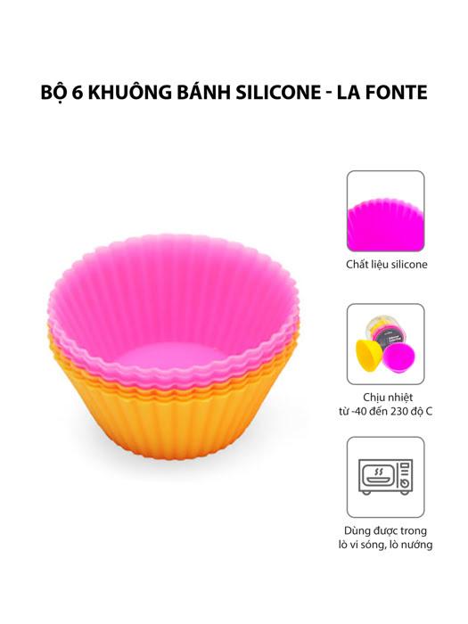 Bộ 6 khuôn làm bánh bằng silicone La Fonte - YY21894