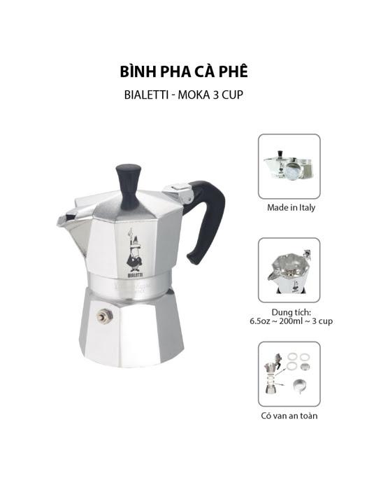 Bình pha cà phê Bialetti Moka 3 cup - 990001162