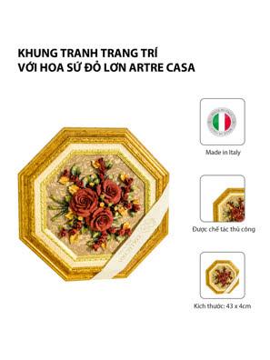 Khung tranh trang trí với hoa sứ đỏ lớn Artre Ca.Sa. ART.5637