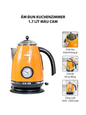 Ấm đun Kuchenzimmer 1.7 lít màu cam - 3000198