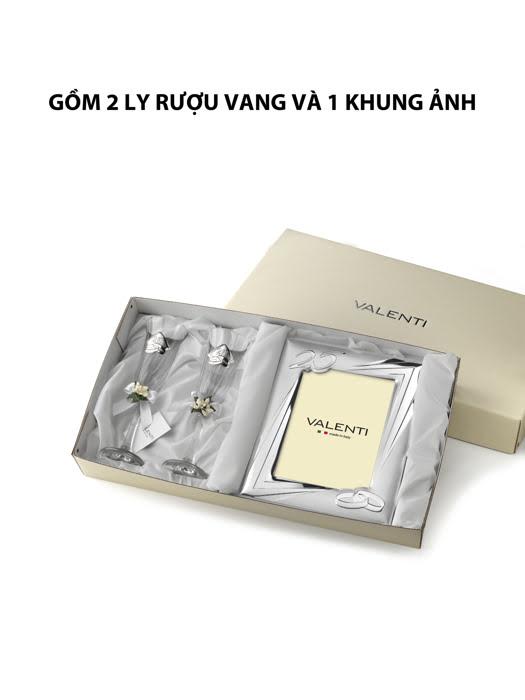 Đồ trang trí quà tặng kỉ niệm 25 năm đám cưới bạc hiệu Valenti - 16504