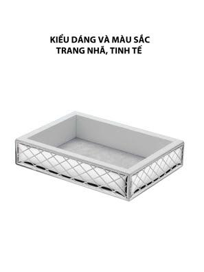 Khay đựng trang sức,kích thước 18x13 mạ bạc hiệu VALENTI  - 406502