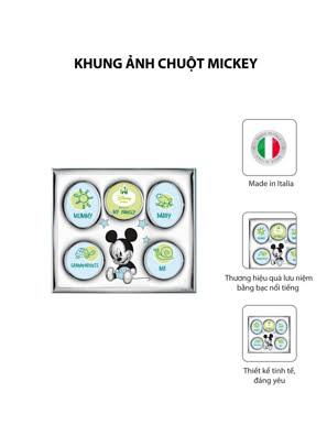 Khung ảnh chuột Mickey,kích thước 26x22 mạ bạc hiệu VALENTI  - D1325LC