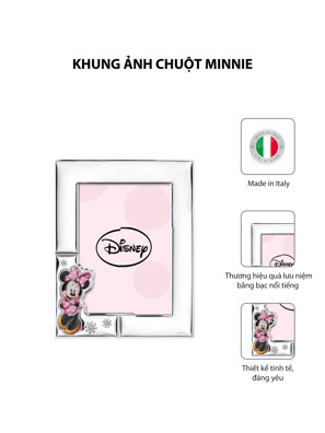 Khung ảnh chuột Minnie,kích thước 13x18 mạ bạc hiệu VALENTI  - D4514LRA