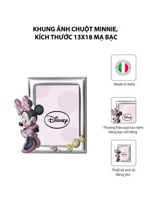 Khung ảnh chuột Minnie,kích thước 13x18 mạ bạc hiệu VALENTI - D2354LRA