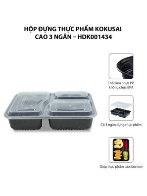 Hộp đựng thực phẩm Kokusai Cao 3 ngăn – HDK001434