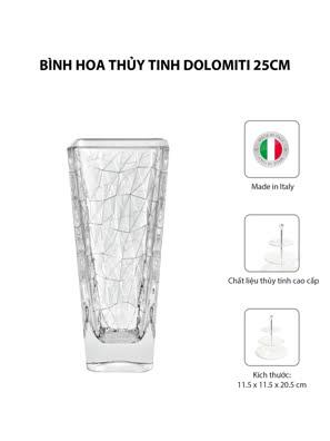 Bình hoa thủy tinh Vidivi DOLOMITI 25cm - 68138M