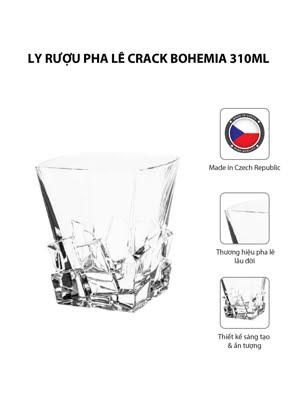 Bộ 6 ly rượu pha lê Crack Bohemia 310ml