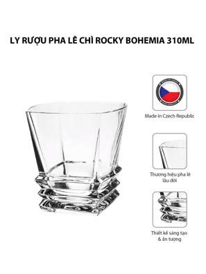 Bộ 6 ly rượu pha lê chì Rocky Bohemia 310ml
