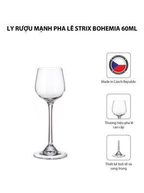 Bộ 6 ly rượu mạnh pha lê Strix Bohemia 60ml