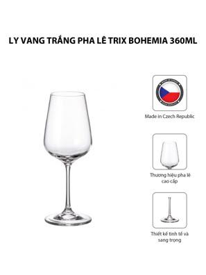 Bộ 6 ly vang trắng pha lê Strix Bohemia 360ml