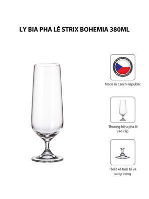 Bộ 6 ly bia pha lê Strix Bohemia 380ml