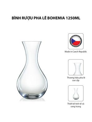 Bình rượu pha lê Bohemia 1250ml