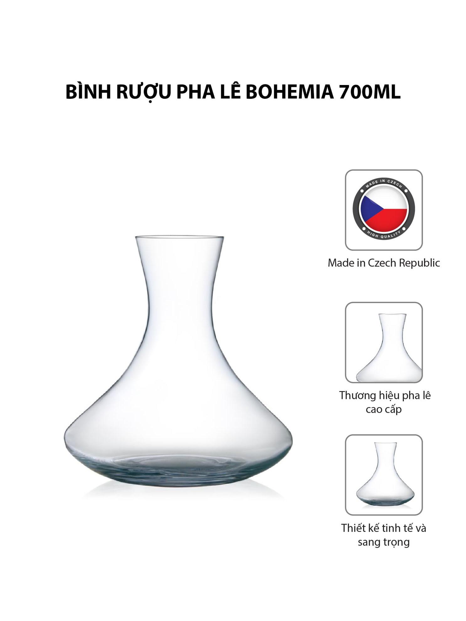 Bình rượu pha lê Bohemia 700ml